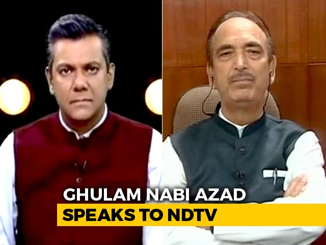 Video : Saddest Day For People Of Jammu and Kashmir: Ghulam Nabi Azad To NDTV