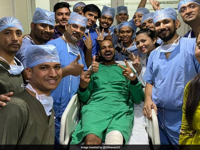 Shikhar Dhawan Shares Pictures With Hospital Staff, Hardik Pandya Wins Over Internet With Witty Reply