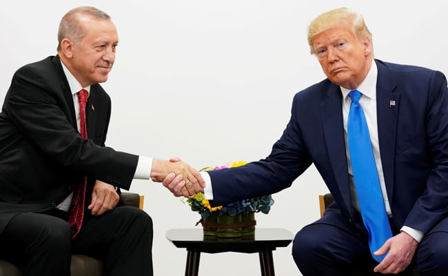 Turkey's president arrives in Washington for talks