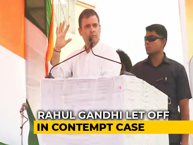 "Video : Rahul Gandhi ""Needs To Be Careful"": Supreme Court Closes Contempt Case"