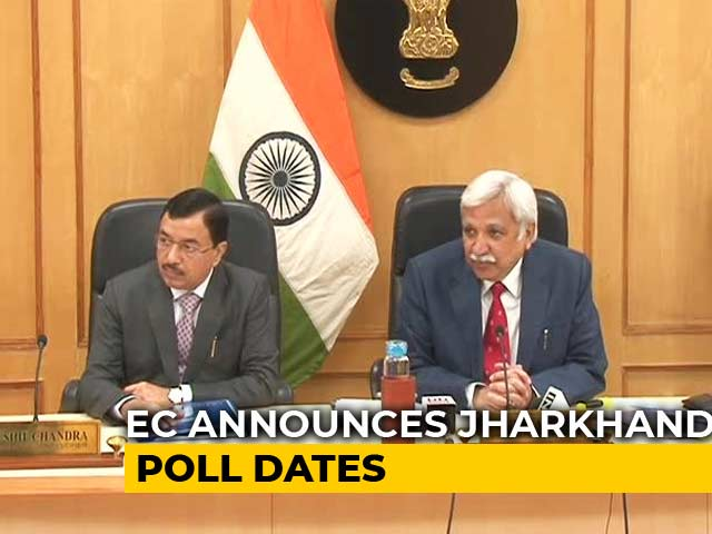 Video : Jharkhand Elections In 5 Phases From November 30, Result On December 23