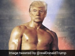 Trump ने बॉक्सर के पोस्टर पर लगाया अपना चेहरा, लोग बोले - खुद को इस तरह देखते...