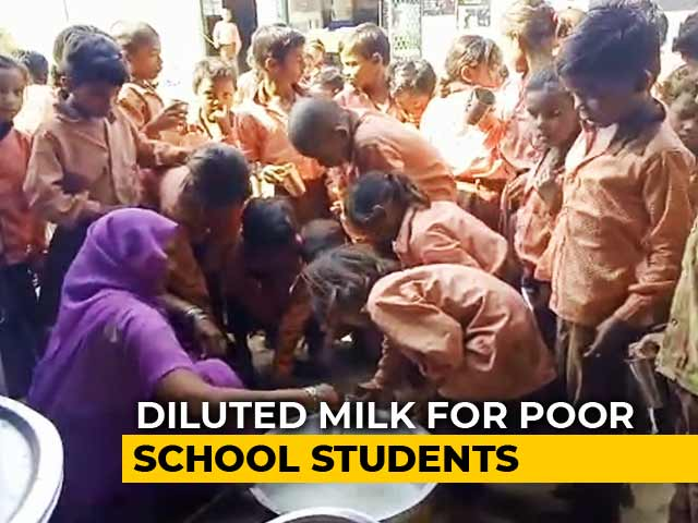 Video: 1 Litre Milk Diluted With Water Served To 81 Students In UP School