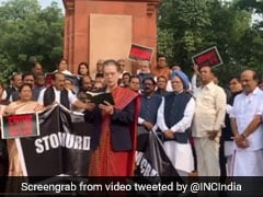 """""""We The People..."""": Sonia Gandhi At Opposition's Constitution Day Protest"""