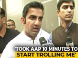 "Video : ""Can Give Up <i>Jalebis</i>..."": Gautam Gambhir's Retort After ""Missing"" Posters"