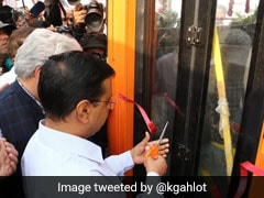 Arvind Kejriwal Flags Off 100 New Buses, Promises 3,000 More