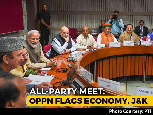 Video : At All-Party Meet, Opposition Flags Economy, Detentions In Kashmir
