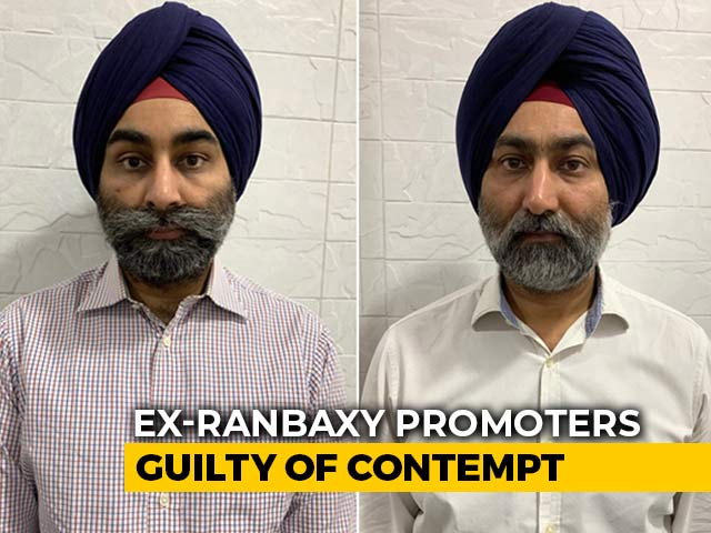 Video : Singh Brothers, Ex-Ranbaxy Promoters, Guilty Of Contempt: Supreme Court