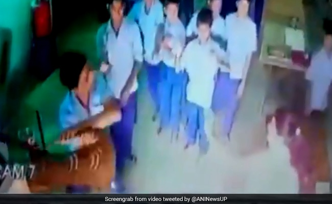 Video Shows Student Hitting Official With Chair At Gandhi Ashram In UP's Raebareli