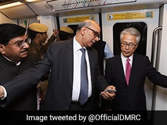 Japanese Envoy Takes Ride On Delhi Metro