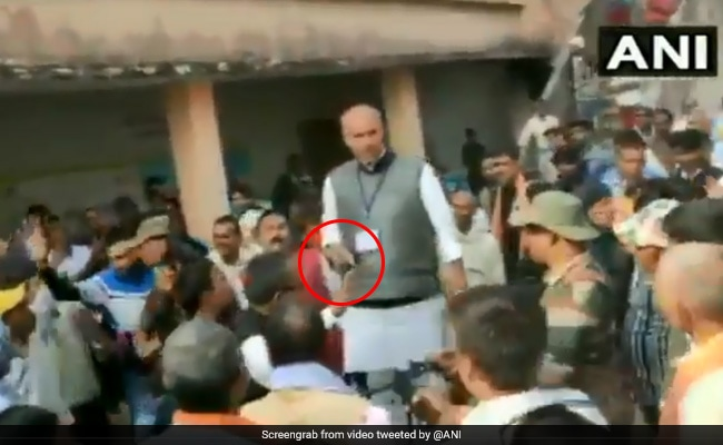 Watch: Jharkhand Congress Candidate Flashes Gun During Clash With BJP Workers