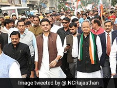 Rajastan Congress Protests Against Withdrawal Of SPG Cover Of Gandhis