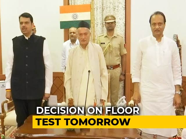 Video : Devendra Fadnavis Takes Over As Chief Minister, Top Court Order Tomorrow