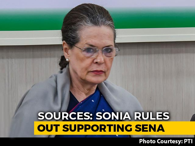 Video : Sonia Gandhi Rules Out Supporting Shiv Sena In Maharashtra, Say Sources