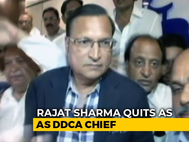 Video : Rajat Sharma Resigns As Chief Of Delhi Cricket Body DDCA