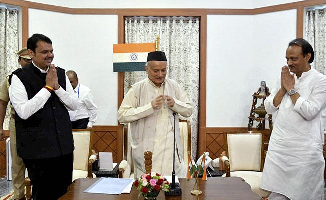 Image result for ஃபட்னாவிஸ் அஜித் பவார்
