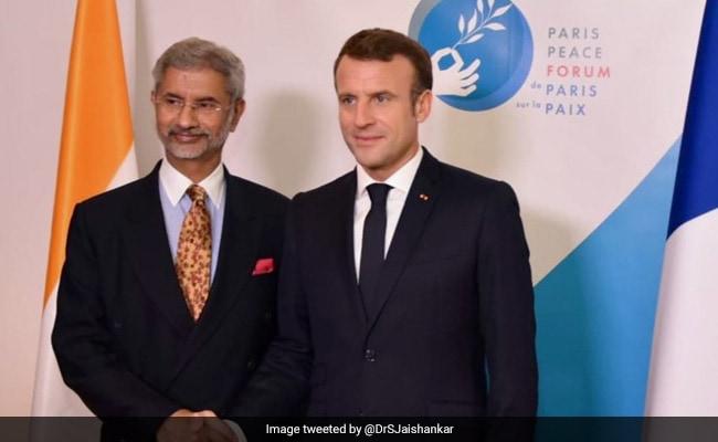 S Jaishankar Holds Meeting With Emmanuel Macron, Discuss Terror, Ties