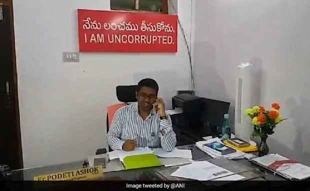 Telangana Official Puts Up 'I Am Uncorrupted' Board In Office