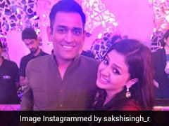 Watch: MS Dhoni Posts Throwback Video, Makes Fun Of Wife Sakshi