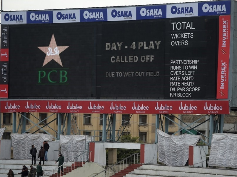 Wet outfield abandons fourth day's play in Rawalpindi Test