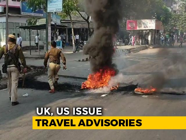"Video : ""Exercise Caution"": UK, US Issue Travel Advisories Amid Northeast Violence"