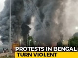 Video : 5 Empty Trains Set On Fire In Bengal Amid Protests Over Citizenship Act