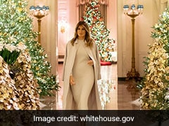 Melania Trump's White House Christmas Decorations Are A Monochromatic Wonderland