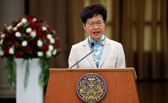 Hong Kong To Adopt National Security Law 'As Soon As Possible': Leader Carrie Lam