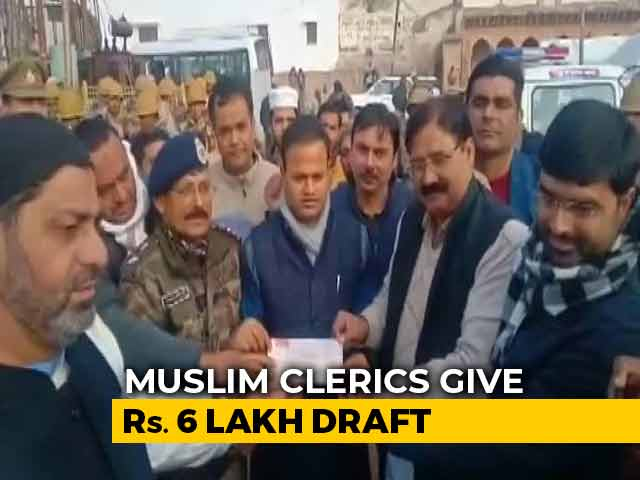 Video : 6 Lakh Cheque From Muslim Citizens As Damage Compensation: UP Government