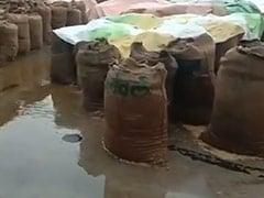 मध्य प्रदेश के किसान परेशान, खुले में रखा हजारों टन धान बरसात में हो रहा बर्बाद