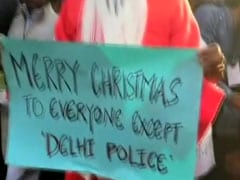 ''Merry Christmas Everyone Apart From Delhi Police'': Protesting Jamia Students