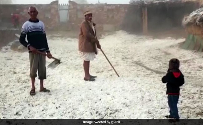 Did It Snow In Rajasthan? Thick Blanket Of Hail Leaves This Town White