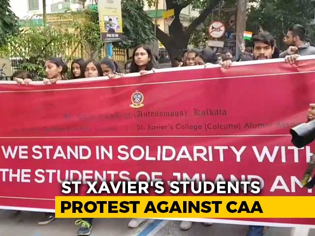 Video : Now, St. Xavier's College In Kolkata Comes Out Against Citizenship Law