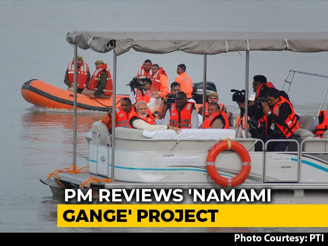 Video : On Streamer Ride, PM Modi Reviews Namami Gange Project In Kanpur