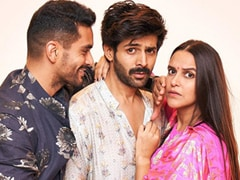 <i>Pati Patni</i> Neha Dhupia And Angad Bedi With '<i>Woh</i>' Kartik Aaryan. Seen Pics Yet?