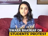 "Video : ""Police Brutality Shameful"": Actor Swara Bhaskar On University Crackdown"