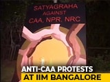 """Video : IIM-Bangalore Students Keep """"Flame Of Democracy"""" Alive In Unique Protest"""
