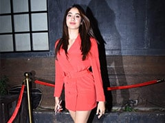 Like Janhvi Kapoor, Channel Christmas Vibes In A Chic Red Dress