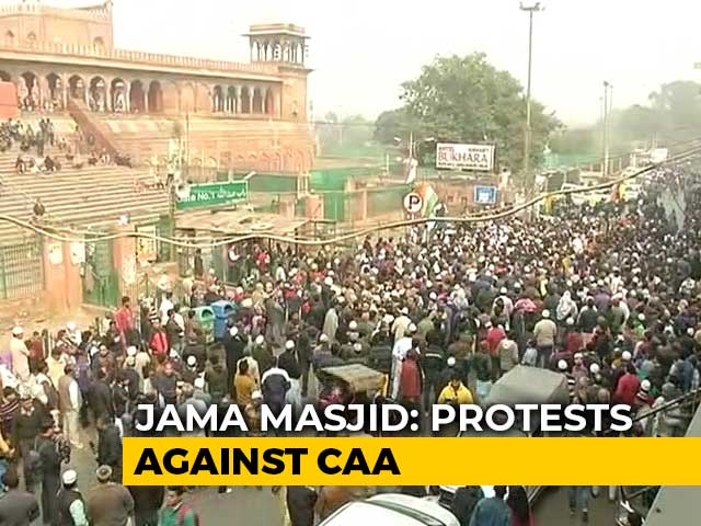 Video : Hundreds Gather At Delhi's Jama Masjid In Protest Against Citizenship Law