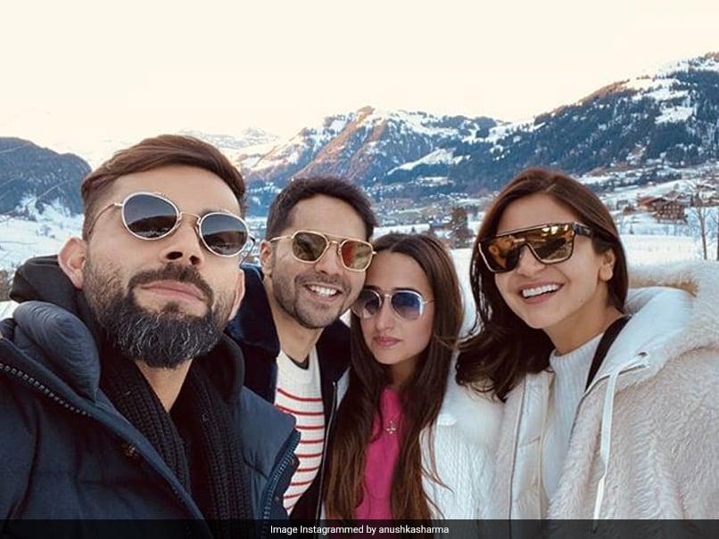 """Mountain Ke Dost"": Virat Kohli And Anushka Sharma Pose With Varun Dhawan And Natasha Dalal"
