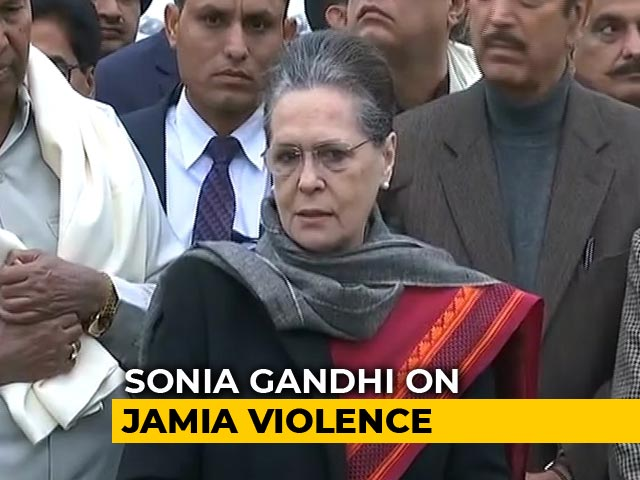 "Video : ""Modi Government Has No Compassion"": Sonia Gandhi On Jamia Crackdown"