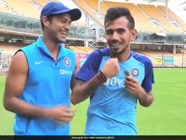 """""""Just Come From The Gym"""": Yuzvendra Chahal Trolls Mayank Agarwal For Showing Off Biceps"""