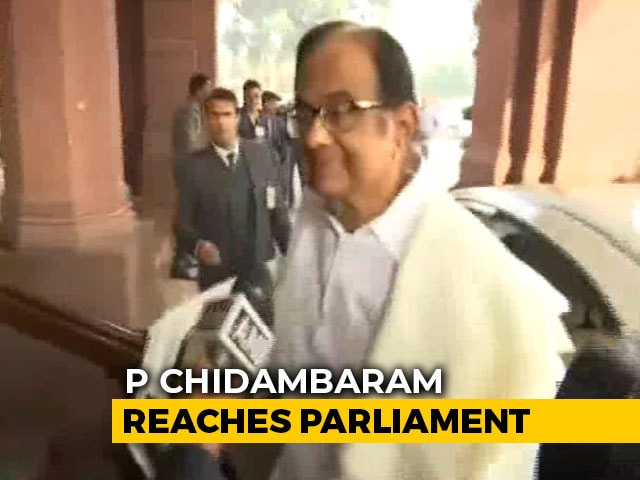 Video : P Chidambaram In Parliament Day After Release From Jail, To Address Press Later