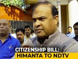 "Video : ""Citizenship Bill Can't Be Secular Because..."": BJP's Himanta Sarma"