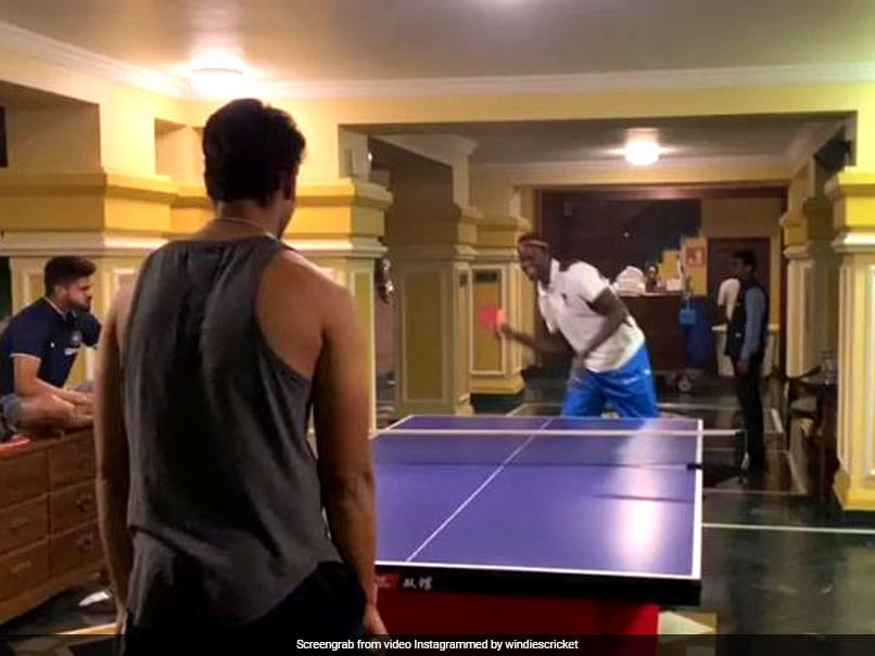 Shivam Dube Takes On Jason Holder In Table Tennis. Watch How They Fared