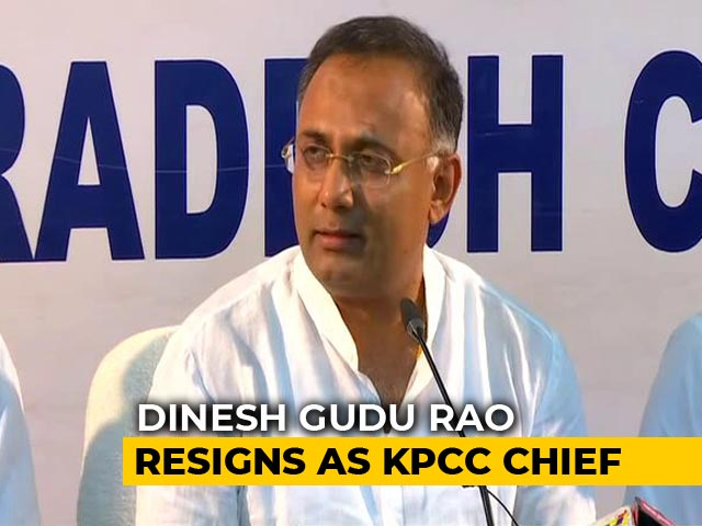 Video : Dinesh Gundu Rao Resigns As Karnataka Congress Chief After Bypoll Defeat