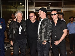 U2 Lands In Mumbai For It's First Ever India Concert