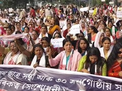 """Want Peace, Not Migrants"": Thousands Of Women Protest Citizenship Act Across Assam"