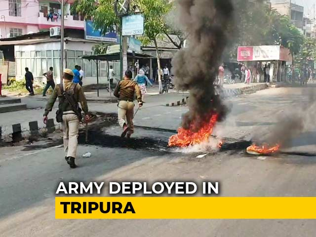 Video : Army Deployed In Parts Of Tripura Amid Protests Over Citizenship Bill