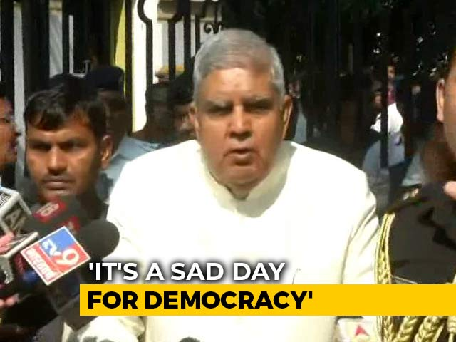 "Video : ""Why Is Gate Closed?"" Bengal Governor Holds Press Meet Outside Assembly"